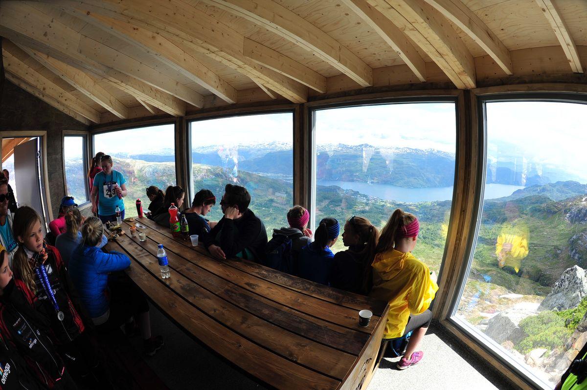 Fjordpanorama fra topphytta