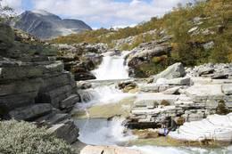 Langglupbekken på vei opp til Høgronden i Rondane - Foto: Anders Lunding