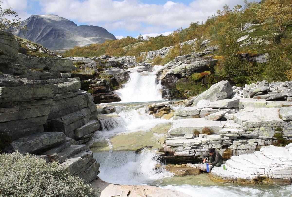 Langglupbekken på vei opp til Høgronden i Rondane