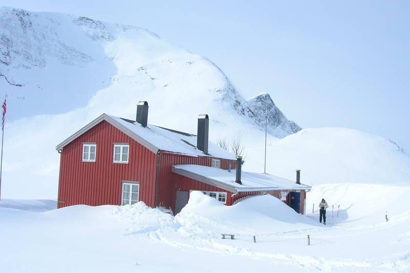 Måsvassbu om vinteren. Snøsikkert område.
