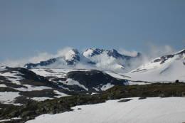 Utsikt sørover fra området rundt Sognefjellshytta - Foto: Ukjent