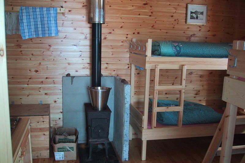 Interiøret har samme standard som på BOTs øvrige hytter