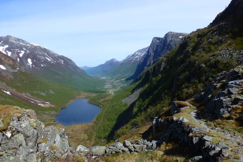 Utsikt fra toppen av Herdalsbrekka. Ca 800 moh.