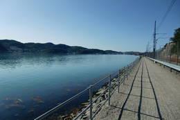 Utsikt fra turstien over gandsfjorden og mot Sandnes. -  Foto: Ukjent