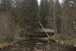 Bro over elva. Rett før målet -  Foto: Jo Henning Dahlø Lien