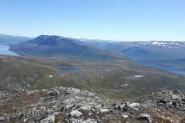 Utsikt fra Storbekkhøa mot Okla. - Foto: Bente Vasli
