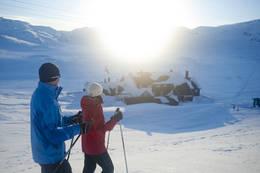 Utsikt mot Geiterygghytta -  Foto: Sindre Thoresen Lønnes/DNT
