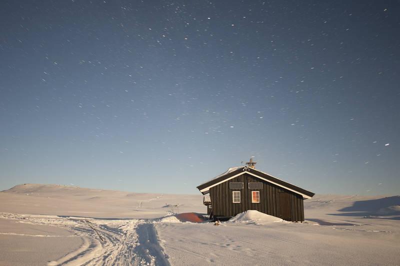 Helberghytta en iskald februardag