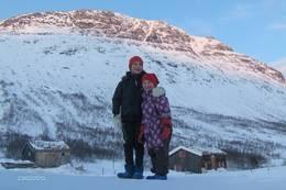 Vassendsetran i 20 minus. Tøffe barn,gikk 5km fra Bårdsgarden i strålende,men kaldt vær. februar 2010.  - Foto: espen eide