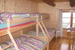 Soverom i Båthuset, som fungerer som sikringsbu for Lauvesetra - Foto: Larvik og Omegns Turistforening