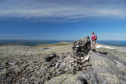 Utsikt nordover fra toppen av Storviglen. -  Foto: Foto: Asgeir Våg