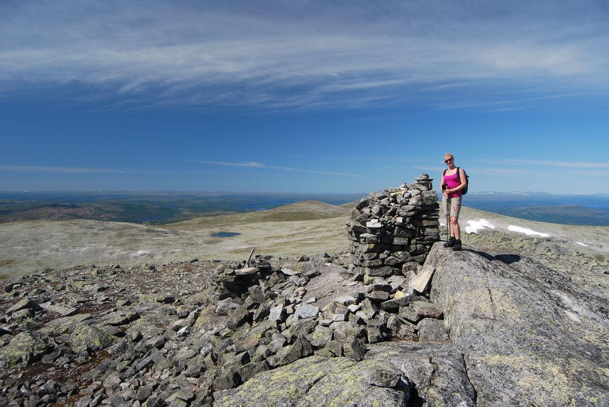Utsikt nordover fra toppen av Storviglen.