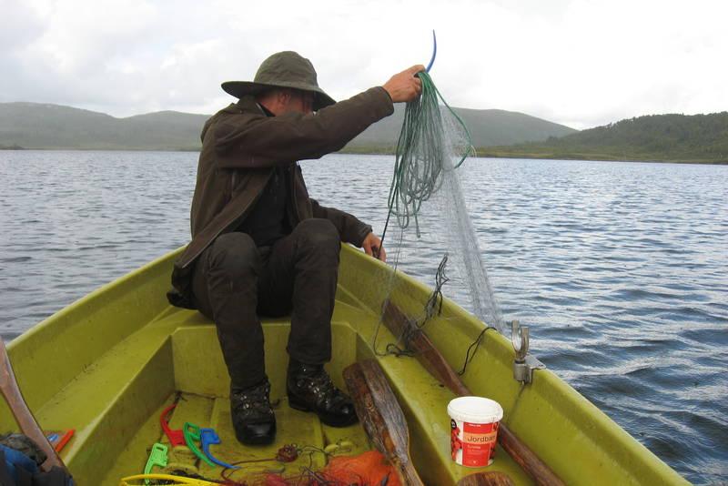 Garnfiske i Austvatnet