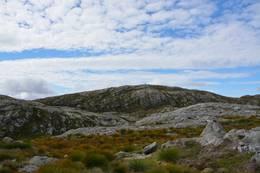 Toppen av Trodlafjellet i sikte for første gong sidan Viketølen -  Foto: Roald Årvik