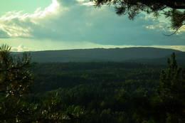 Utsikt fra toppen bak gapahuken - Foto: Helge Risnes