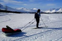 Gjevilvasshytta som utgangspunkt for spennende skiturer. - Foto: Anne Jørgensen Bruland