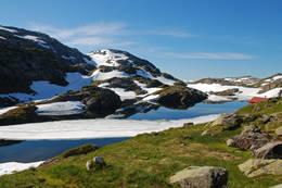 Utsyn over Tj¿rnadalsvatnet ved H¿gabu. - Foto: Torill Refsdal Aase