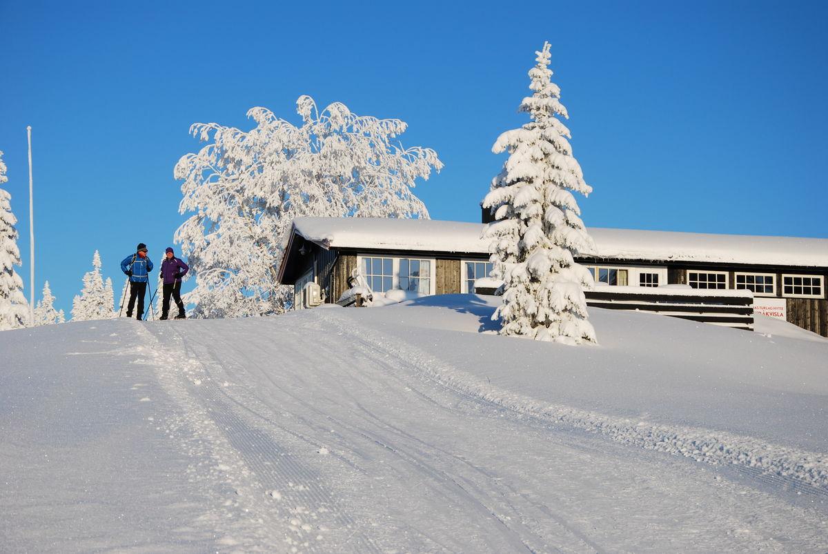 Vinteridyll ved Lageråkvisla i desember 2019.