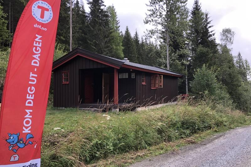 Fiskelaushytta ved tjernet Fiskelausa i Østmarka åpner 1. september 2019, på Kom Deg Ut-dagen