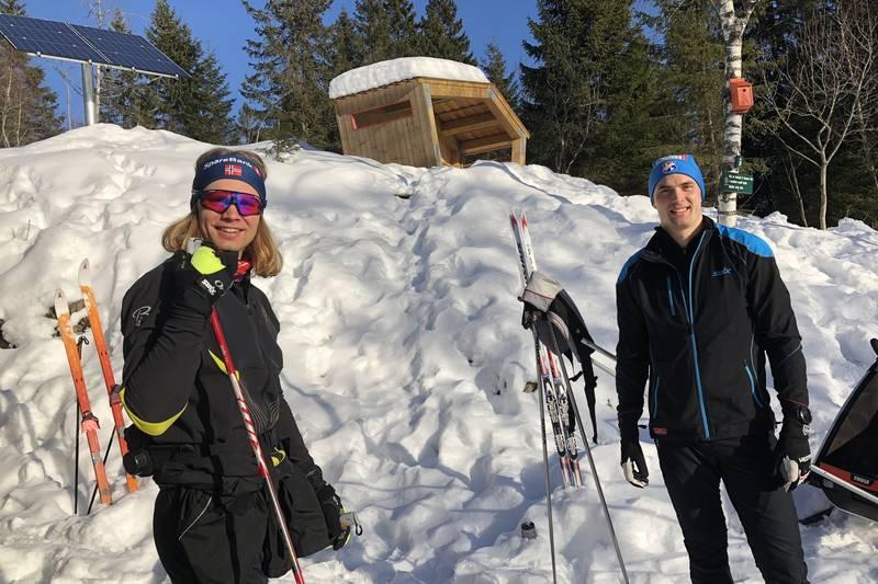 På ski til Fuglemyrhytta via Frønsvolltråkka