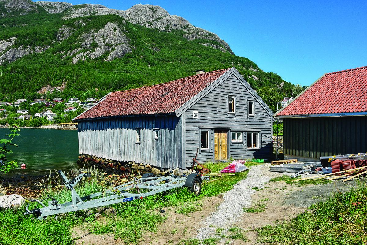 Bergesjøhuset er museum og ligger like bak handelssenteret i Bergevik