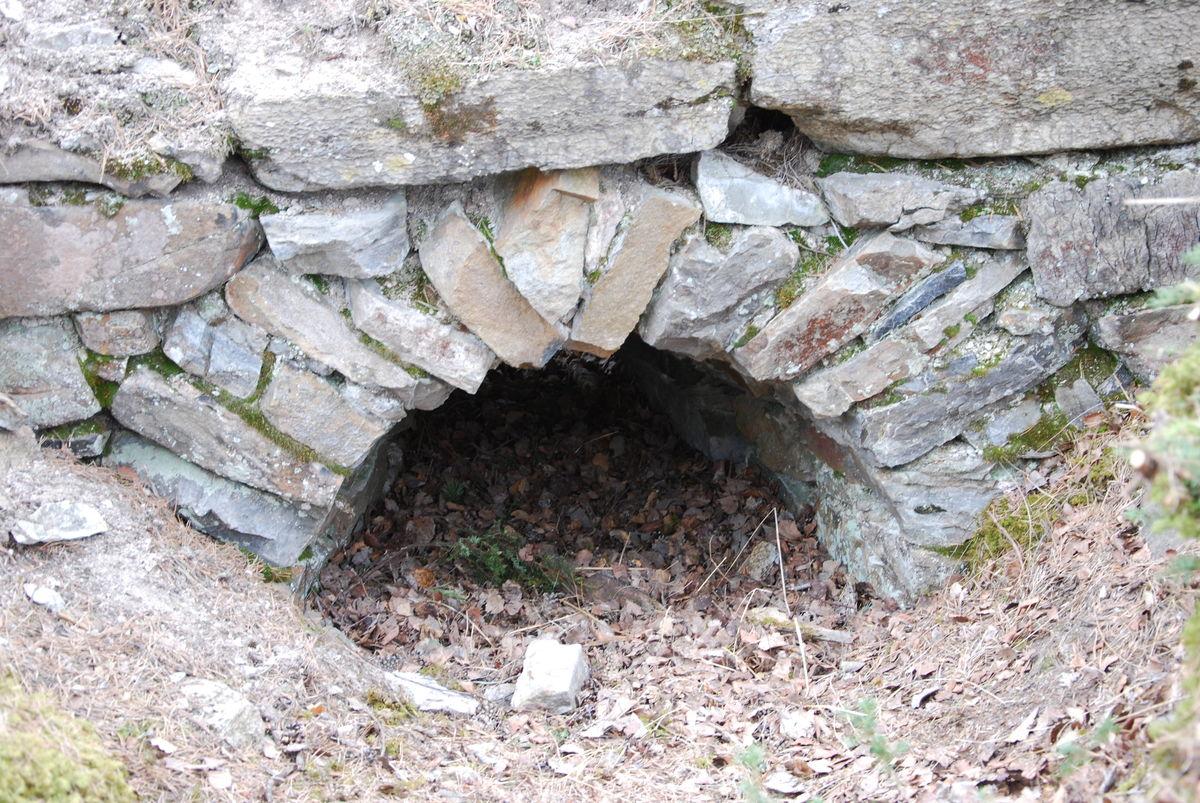 Vindusåpning i søndre mur, Mjøskastellet på Steinsholmen