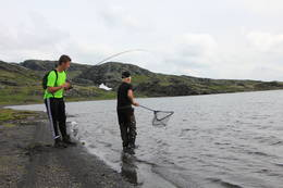 Fisking i Lonavatnet - Foto: Tom Dahl