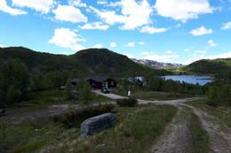 Kråkemo, Demningen til bordalsvannet kan ses i bakgrunnen. -  Foto: Thomas Lægreid