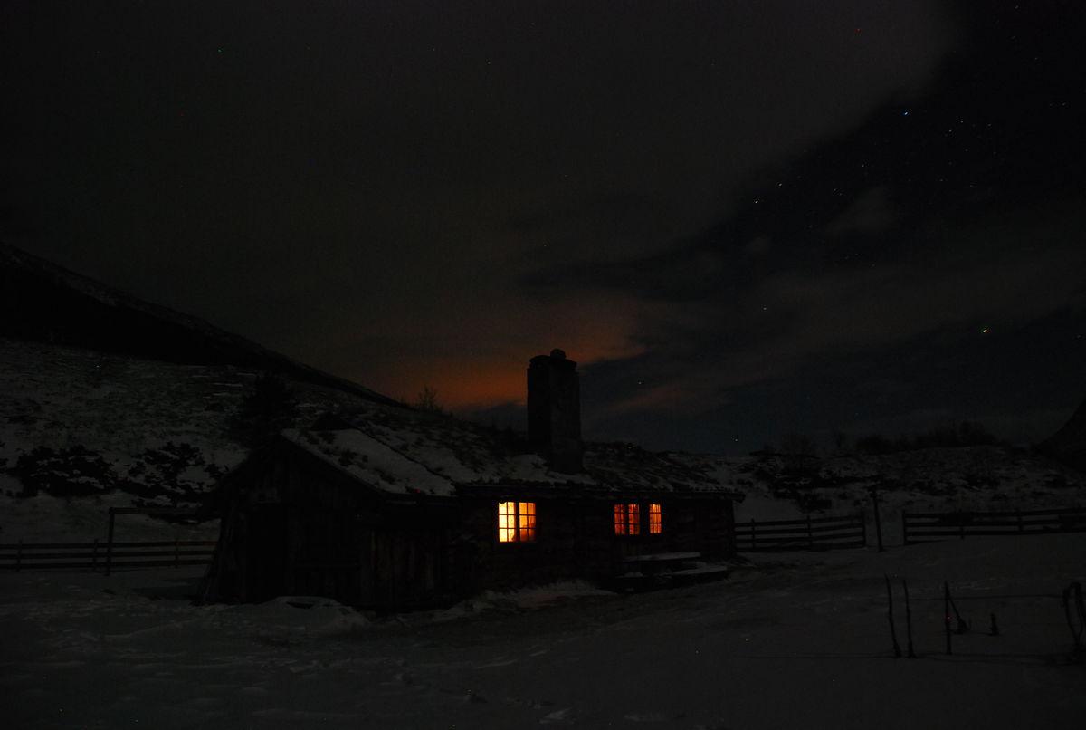 Vinternatt, Aakerstua - Gammelsætra