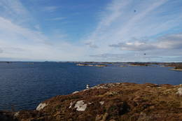 Utsyn mot havet i vest.  - Foto: Evy Dame