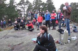 Bjørn Erland holdtappellenpå Linnåsdagen 2011. - Foto: Floke Bredland