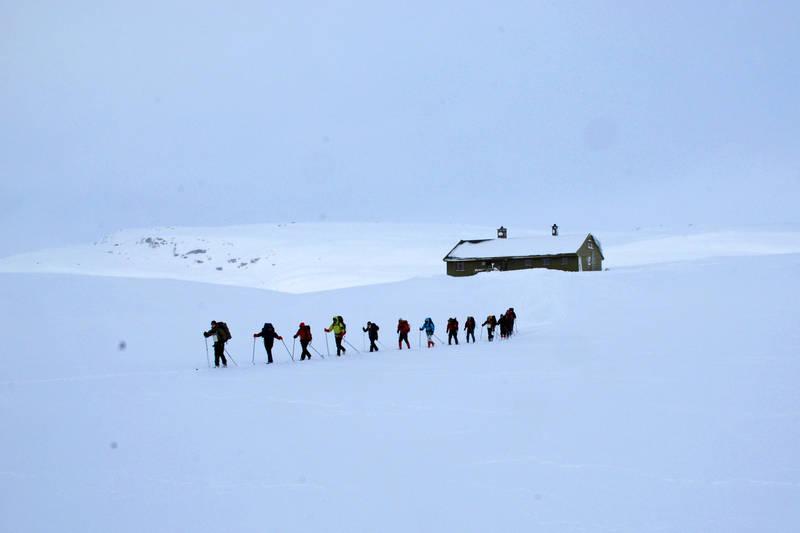 På skitur ved Selhamar i Stølsheimen