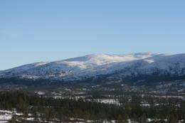Utsikt mot Hyllfjellet fra Guddingsskallen -  Foto: Kjell Olav Melbye