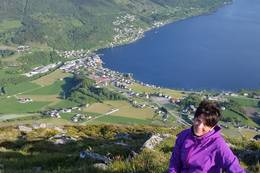 Utsikt over Sandeid -  Foto: Stine Helen Marken