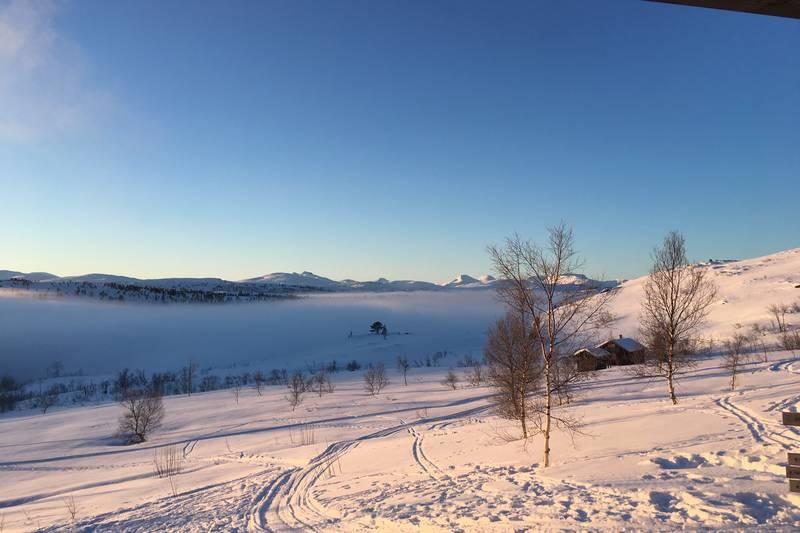 Vinterlandskap ved Grytbakksetra