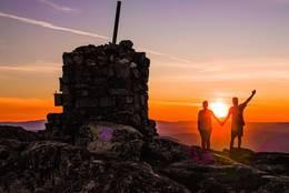 Solnedgang på Roan -  Foto: Pål Martin Tvete