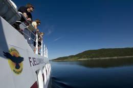 Fjellvåken II går i rute mellom Mogen Turisthytte og Skinnarbu -  Foto: Ukjent