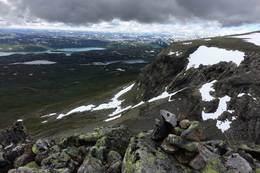 Utsikt mot Haugastøl litt sør for Prestholtvarden - Foto: Erik Haaland