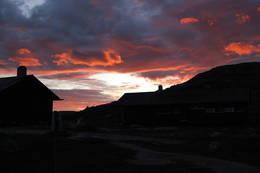 Solnedgang på Kjeldebu  - Foto: Britt-Elin Haga