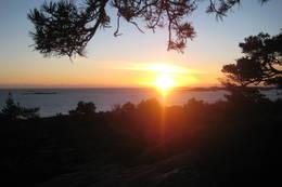 Solnedgang fra et av de mange utsiktspunktene. - Foto: Floke Bredland