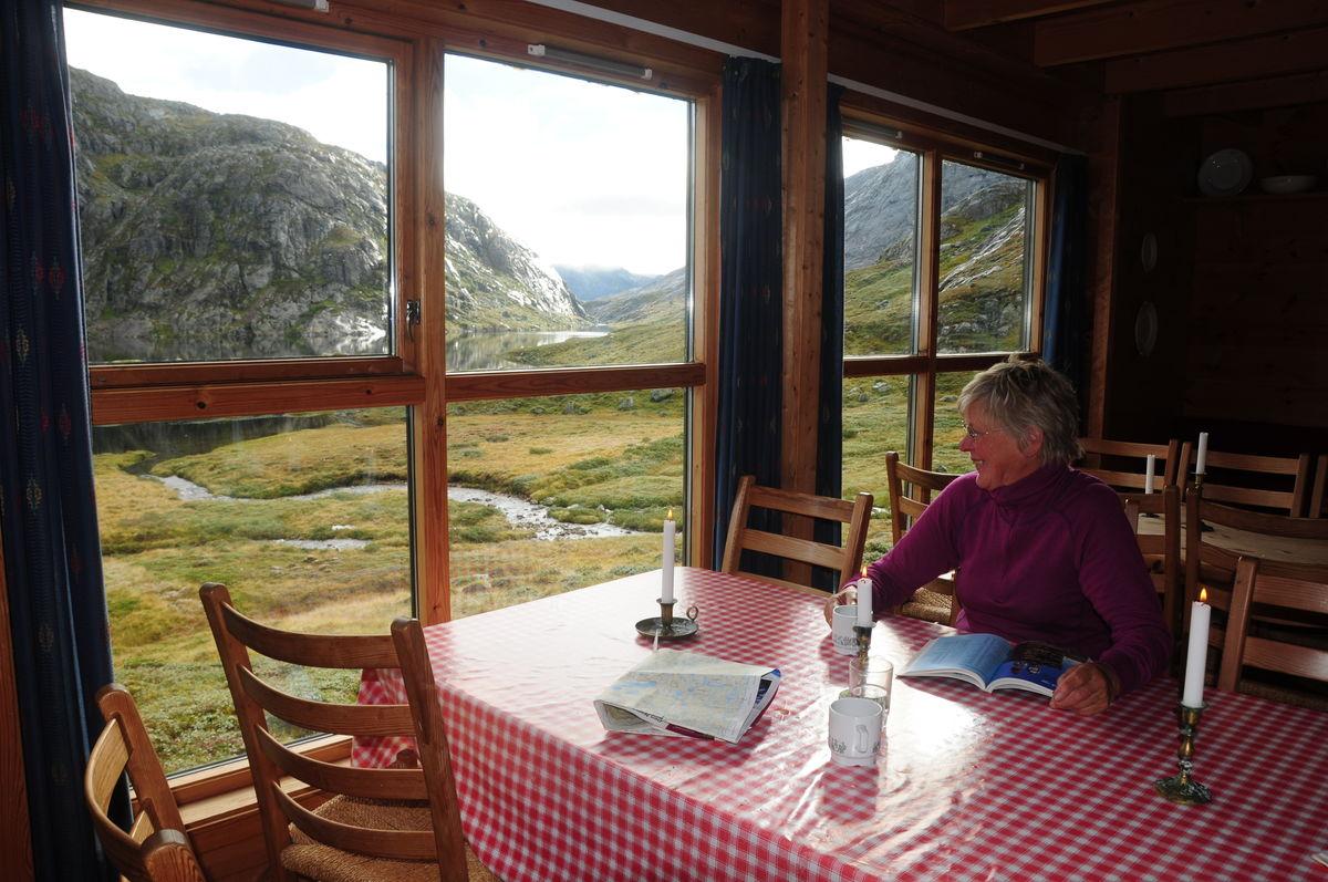 Flott utsikt fra spisebordet.