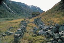Jensafeta i Kvanndalen. Her var det stordrift med geiter. - Foto: Kjell Helle-Olsen