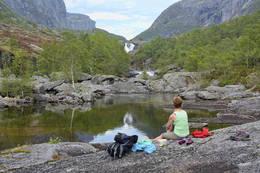 Flotte badekulper ved Hia - Foto: Odd Inge Worsøe