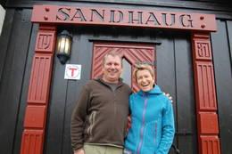 Velkommen til Sandhaug - Foto: Kari Merete Horne