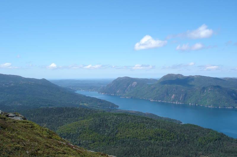 Yrkesfjorden mot Haugalandet