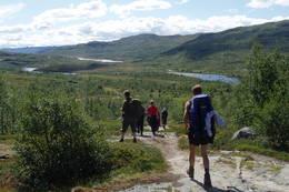 På vei inn Veigdalen fra Hjølmo mot Hedlo og Hadlakard - Foto: Anne-Kari Enes