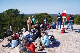 På toppen av Franseåsen -  Foto: Aust-Agder turistforening