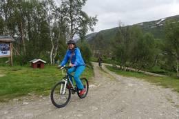 Sykler kan lånes på Mogen - Foto: