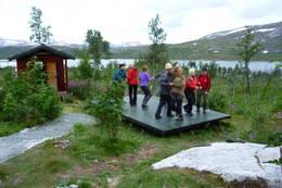 Hytta har danseplatting - Foto: Berit Irgens