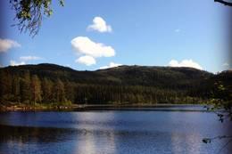 Vinnordvannet ligger i vestenden av Trilledalen og 672 m.o.h. -  Foto: Hilde Roland